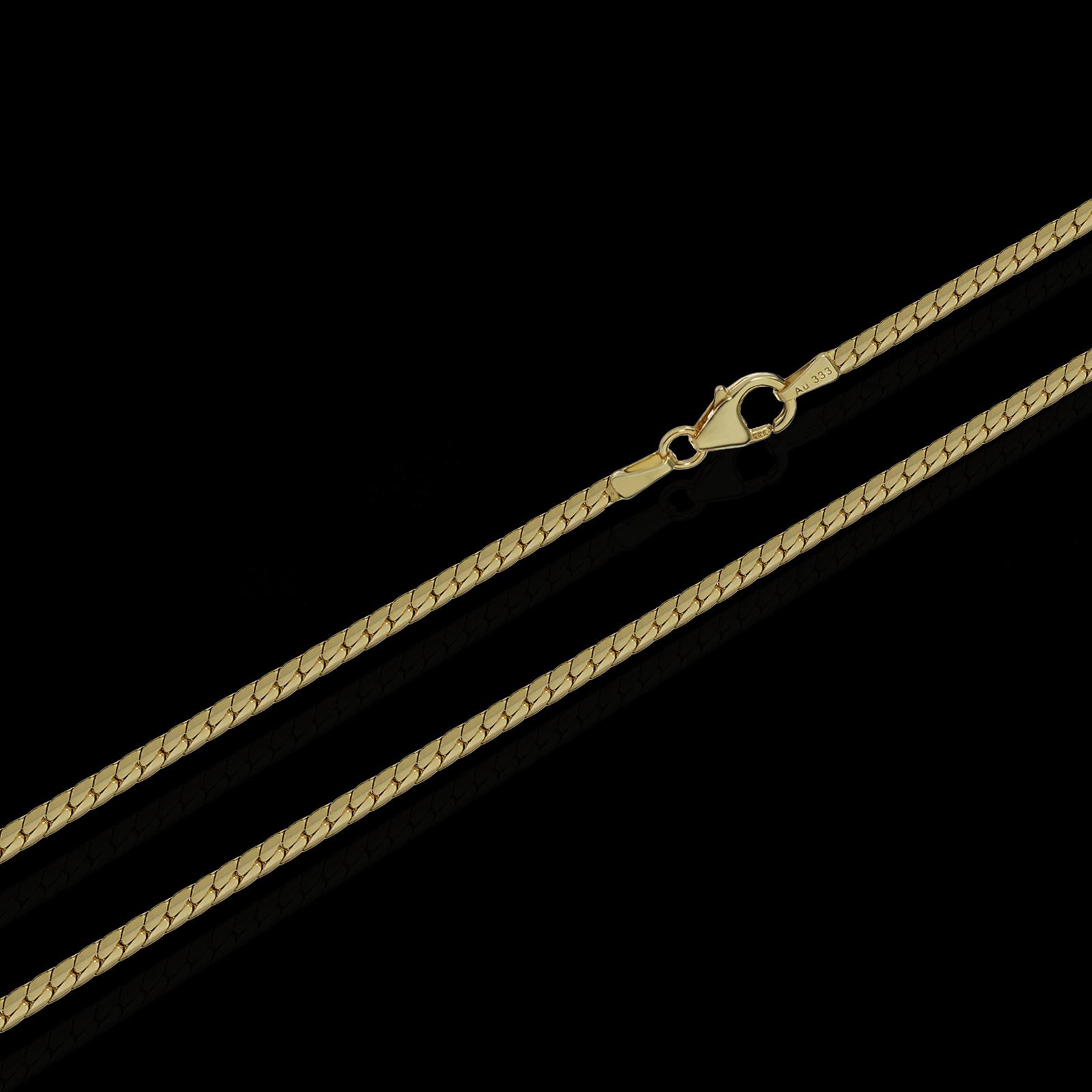 ECHTE-333-gelb-GOLD-KETTE-oder-925-SILBER-KETTE-HERREN-DAMEN-HALSKETTE-COLLIER