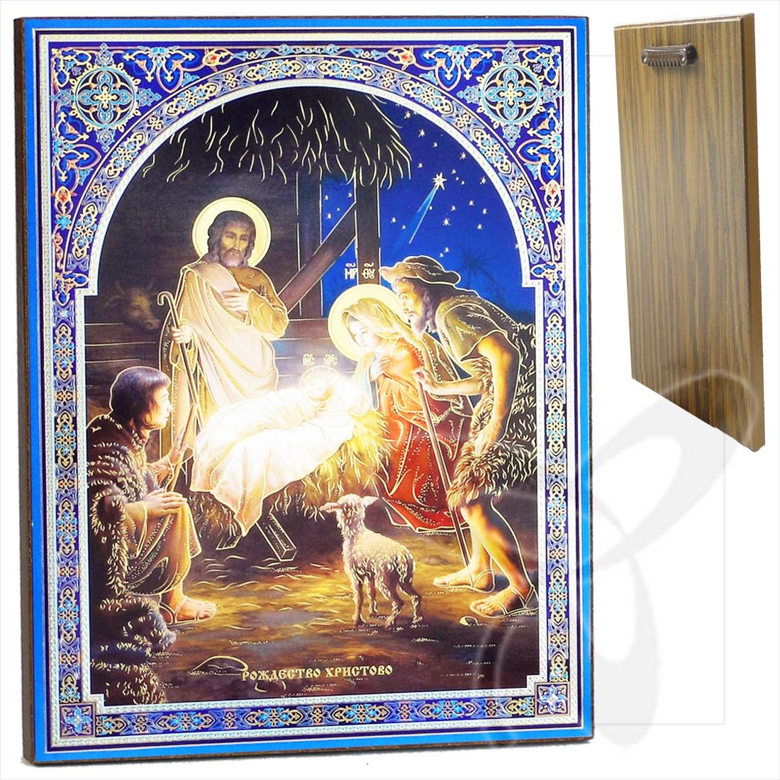 ikone geburt jesu christi weihnachten holz 30x40 ic ne. Black Bedroom Furniture Sets. Home Design Ideas