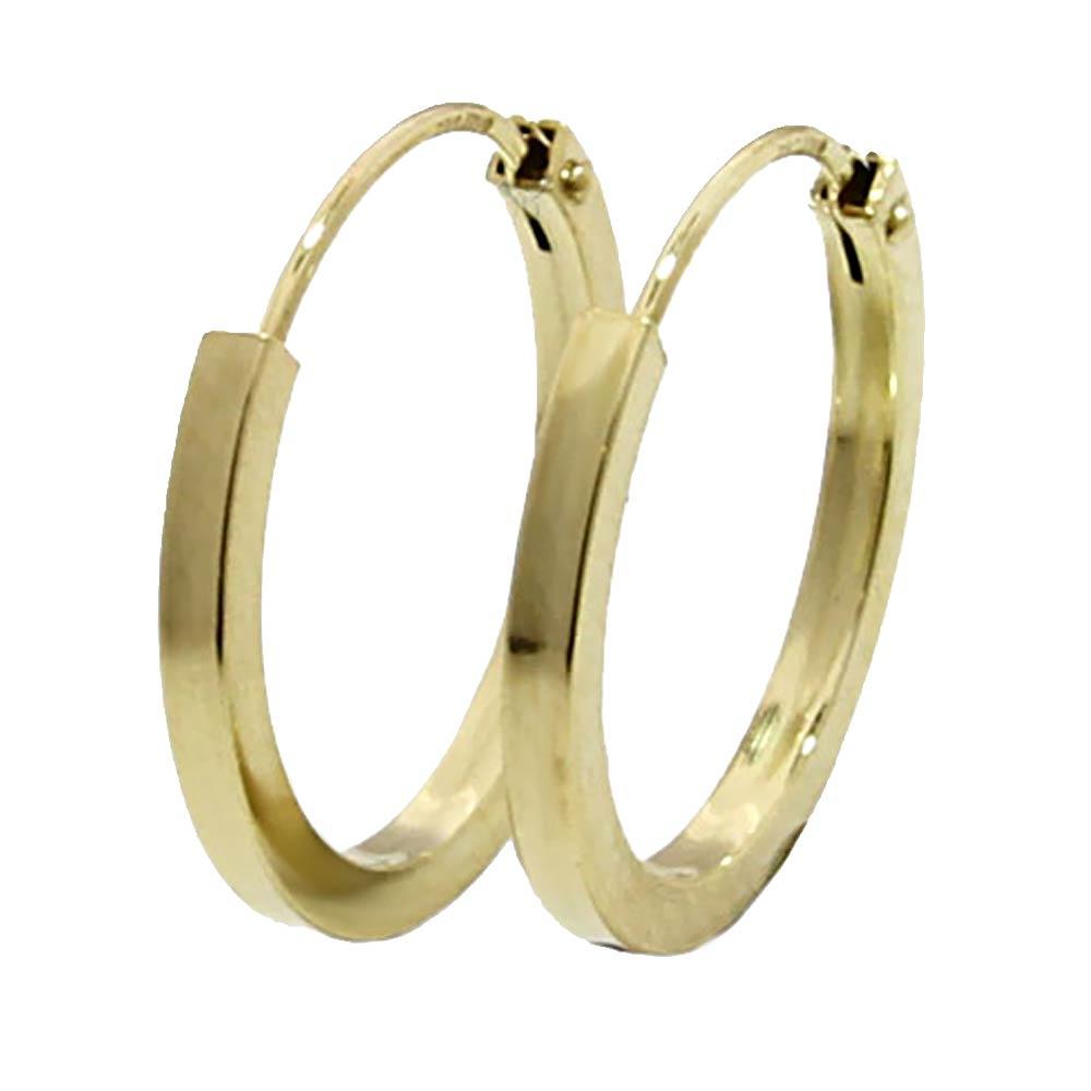 Creolen 333 Gold Ohrringe Herren Männer Damen 9mm MF8 Paar 2Stück