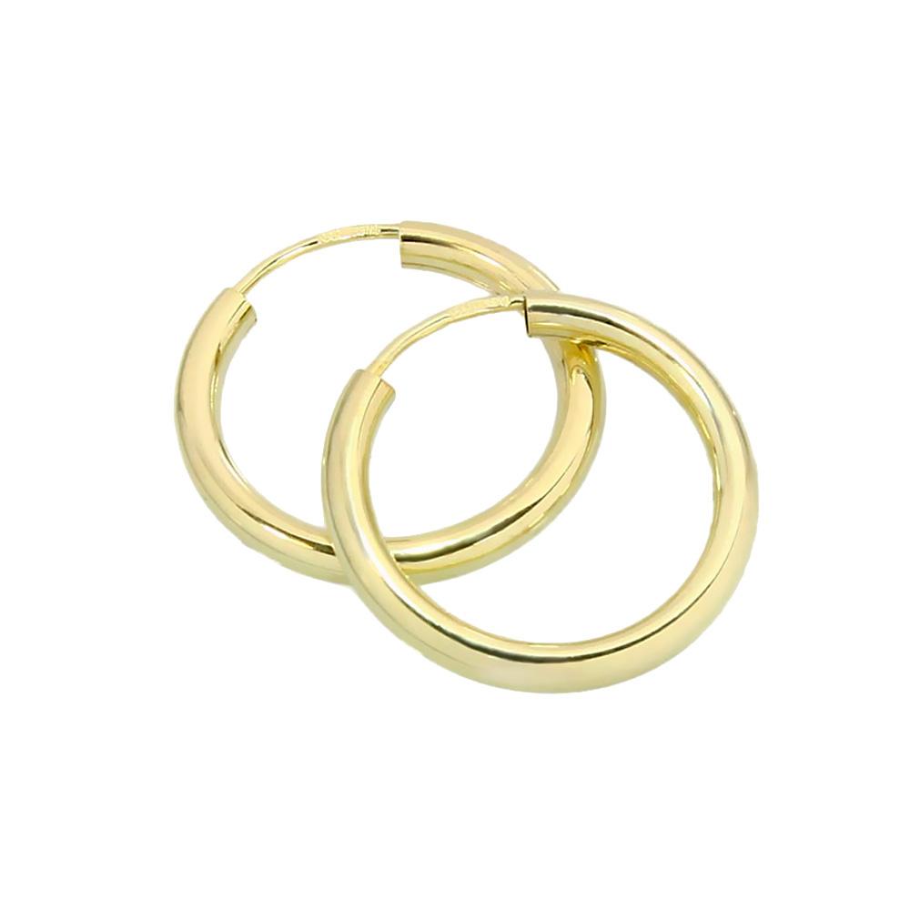 EINZEL Creole Ohrring Sterlingsilber 925 vergoldet Ohrschmuck 11mm 2565