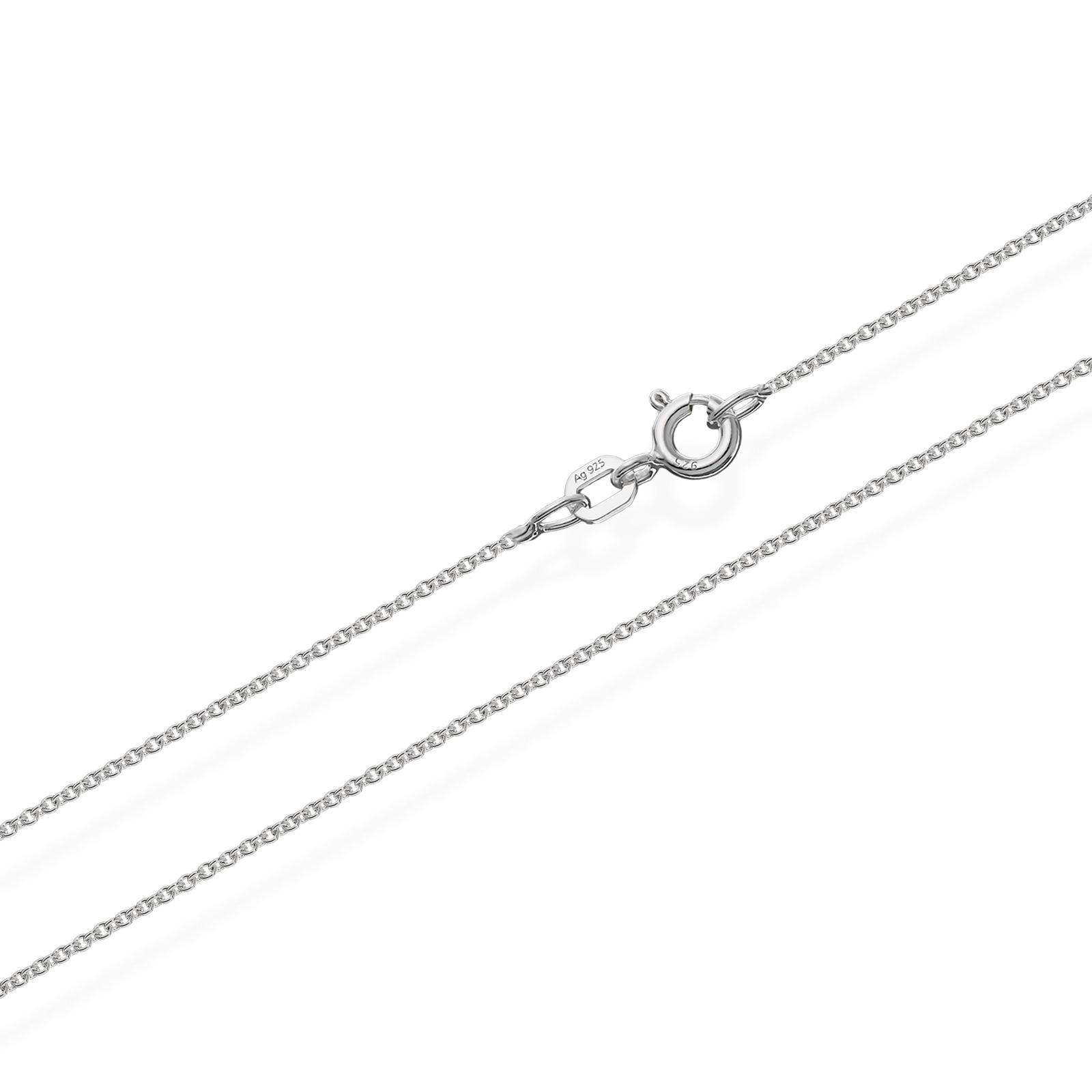 50cm ANKERKETTE 925 Sterling Silber Kette Rund MASSIV Collier 1,8gr 1,10mm  3501 f63122e1f6