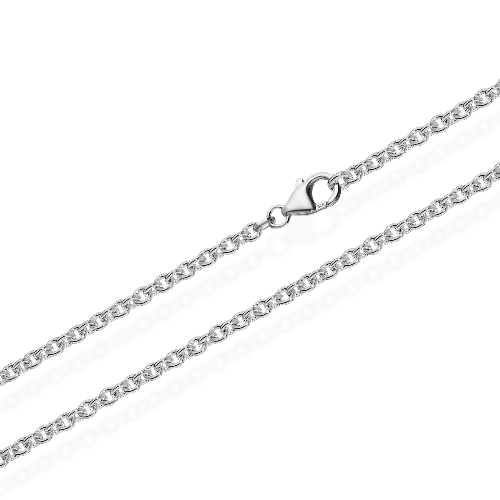 ANKERKETTE 925 Sterling Silber Kette Rund MASSIV Collier 2,80mm Damen Herren