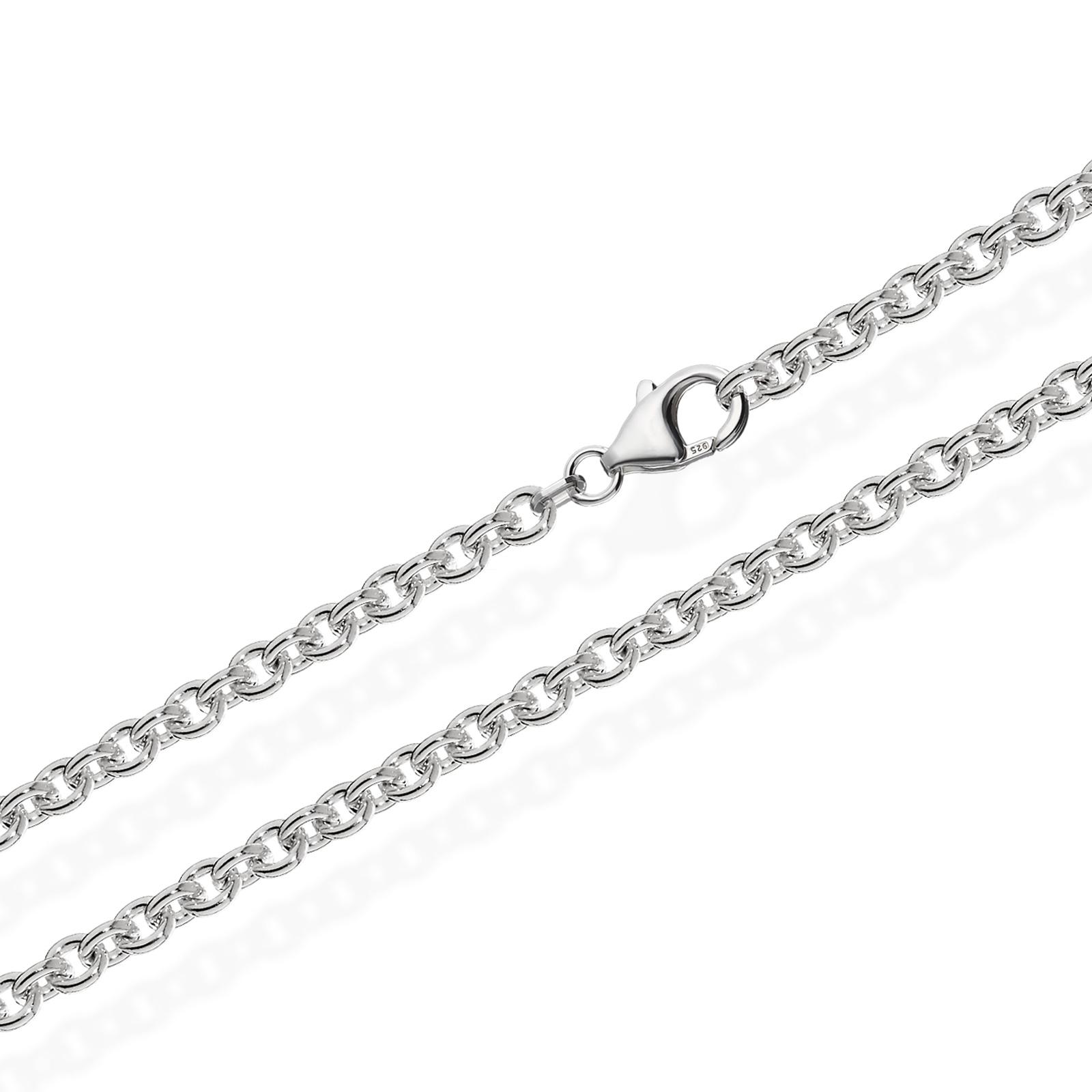40144217c307 90cm ANKERKETTE 925 Sterling Silber Kette Rund MASSIV Collier 33,5gr 4,00mm  3539