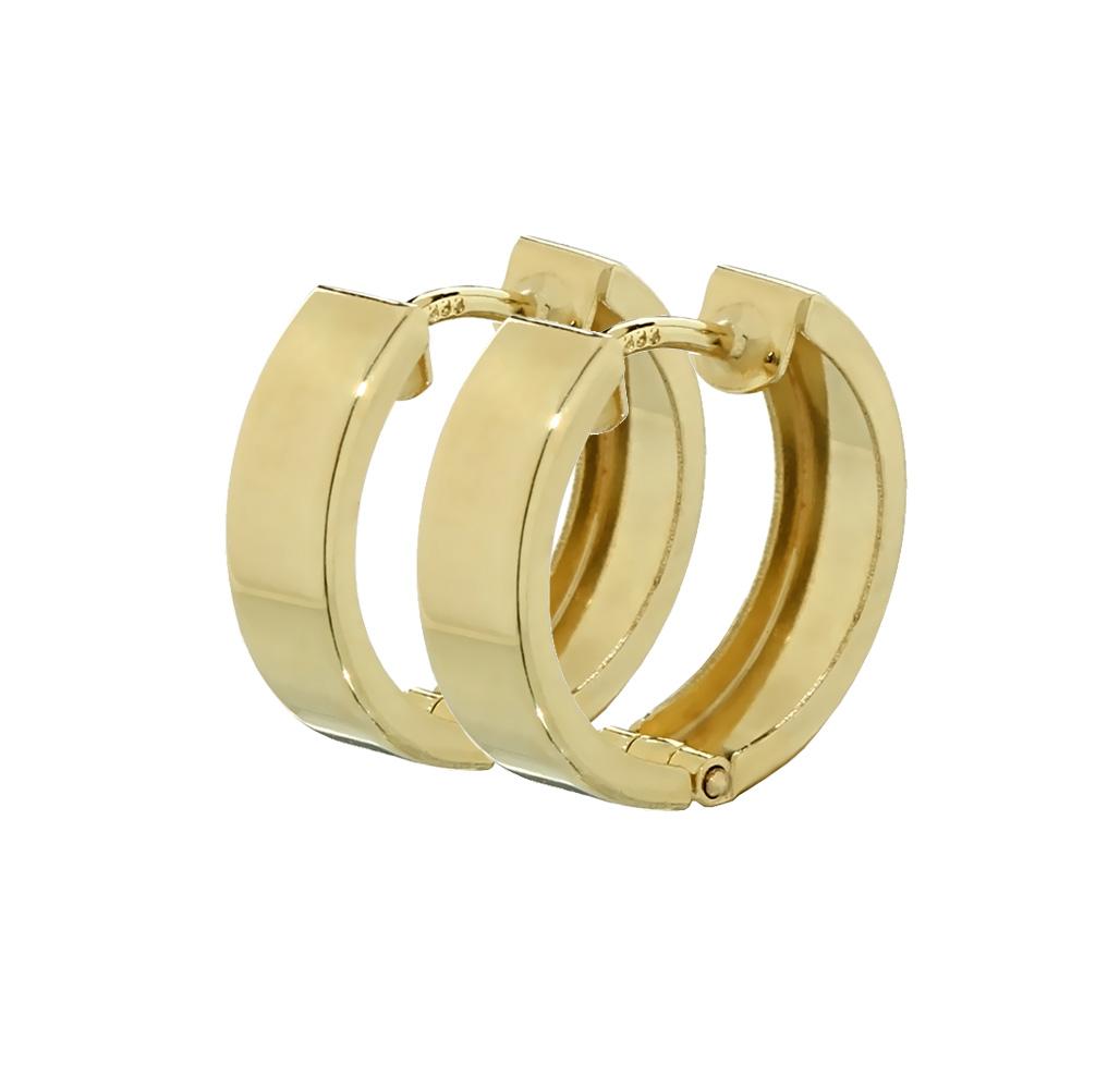 Single 333 Gelbgold Klappcreole Ohrring 12,4 x 3,2mm glänzend Quadratisch 4746