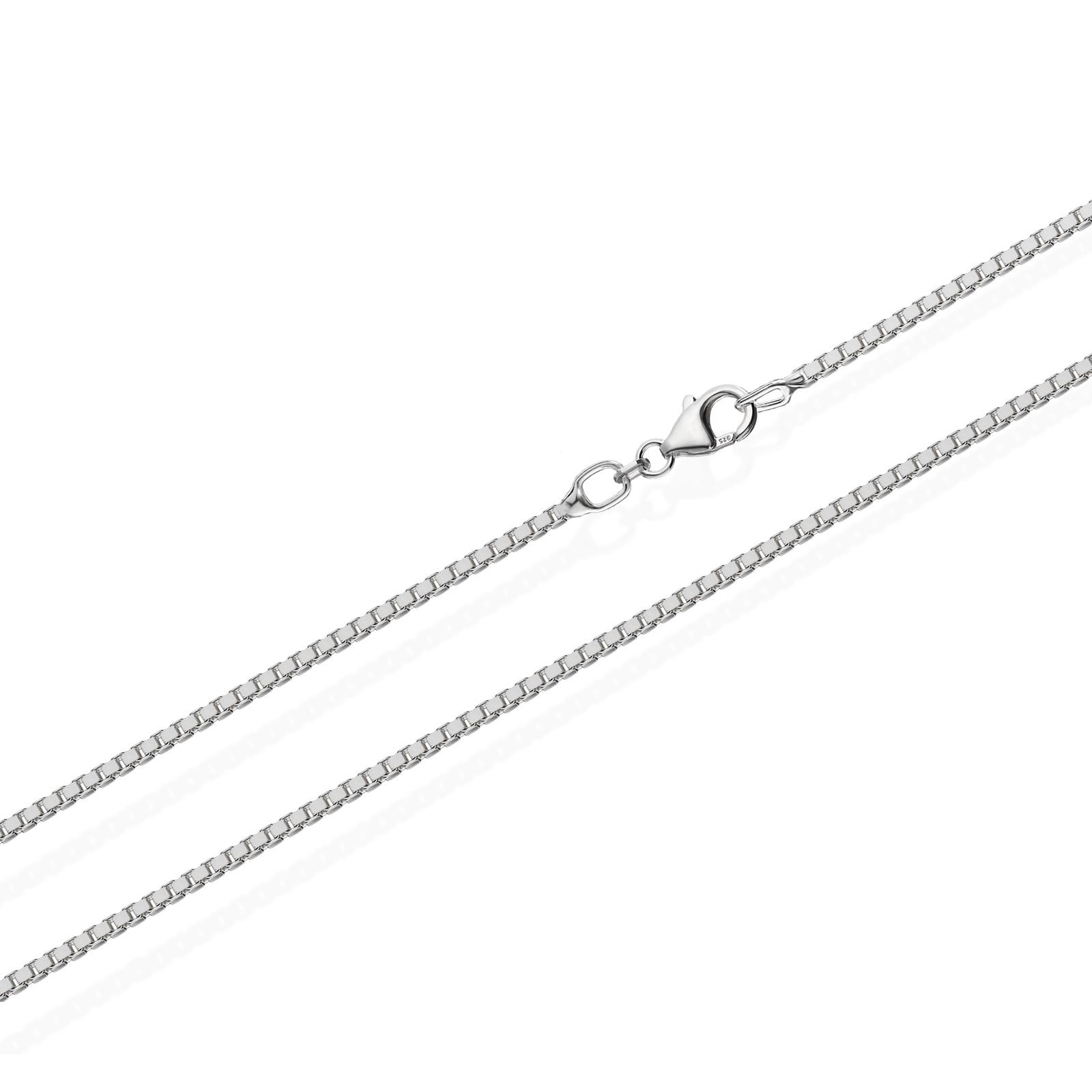 echte 925er Sterlingsilber Venezianerkette Silberkette Halskette Damen Herren 0,60mm