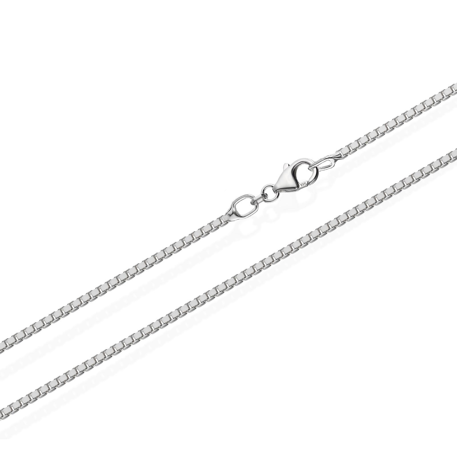 echte 925er Sterlingsilber Venezianerkette Silberkette Halskette Damen Herren 0,80mm