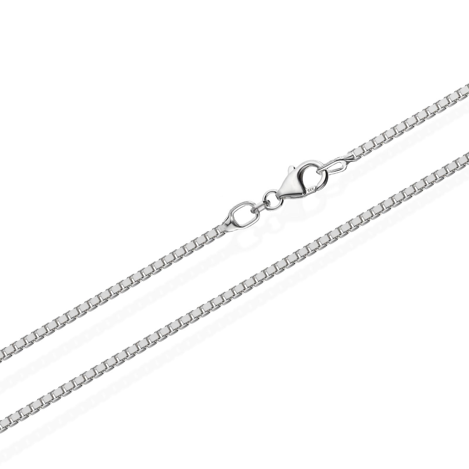 echte 925er Sterlingsilber Venezianerkette Silberkette Halskette Damen Herren 1,00mm