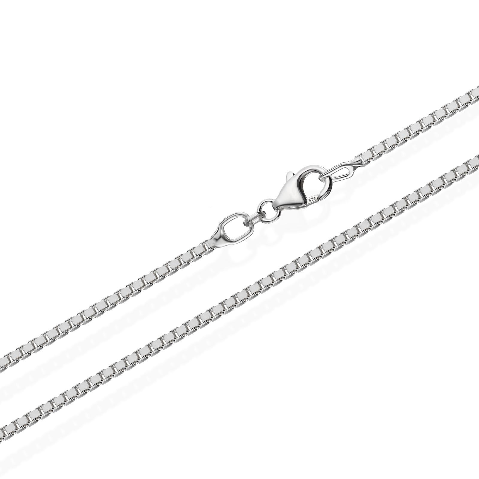 echte 925er Sterlingsilber Venezianerkette Silberkette Halskette Damen Herren 1,30mm