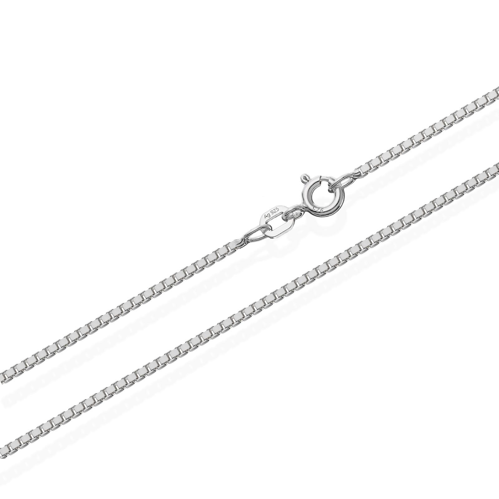 echte 925er Sterlingsilber Venezianerkette Silberkette Halskette Damen Herren 0,90mm