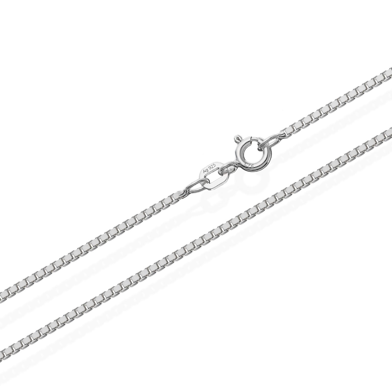 echte 925er Sterlingsilber Venezianerkette Silberkette Halskette Damen Herren 1,20mm