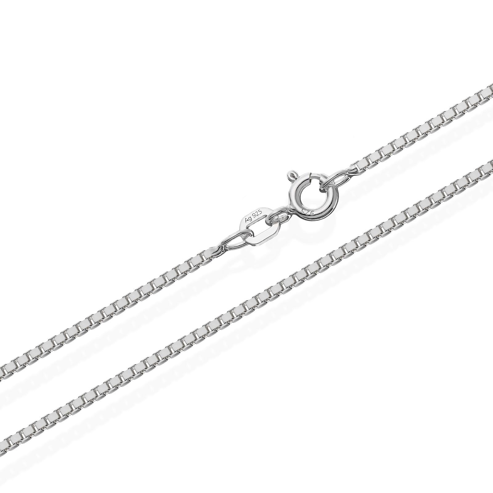echte 925er Sterlingsilber Venezianerkette Silberkette Halskette Damen Herren 1,40mm