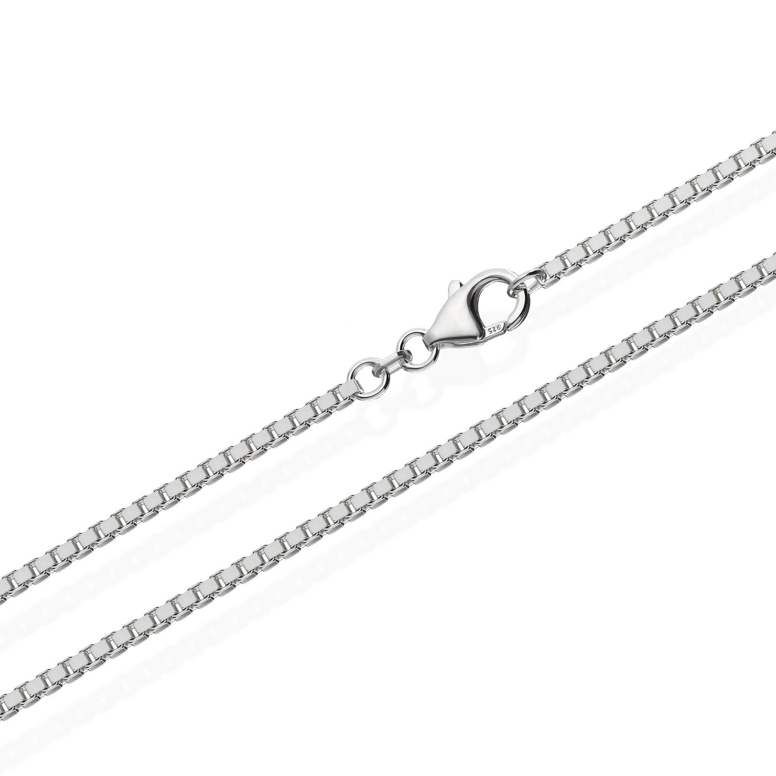 echte 925er Sterlingsilber Venezianerkette Silberkette Halskette Damen Herren 1,80mm