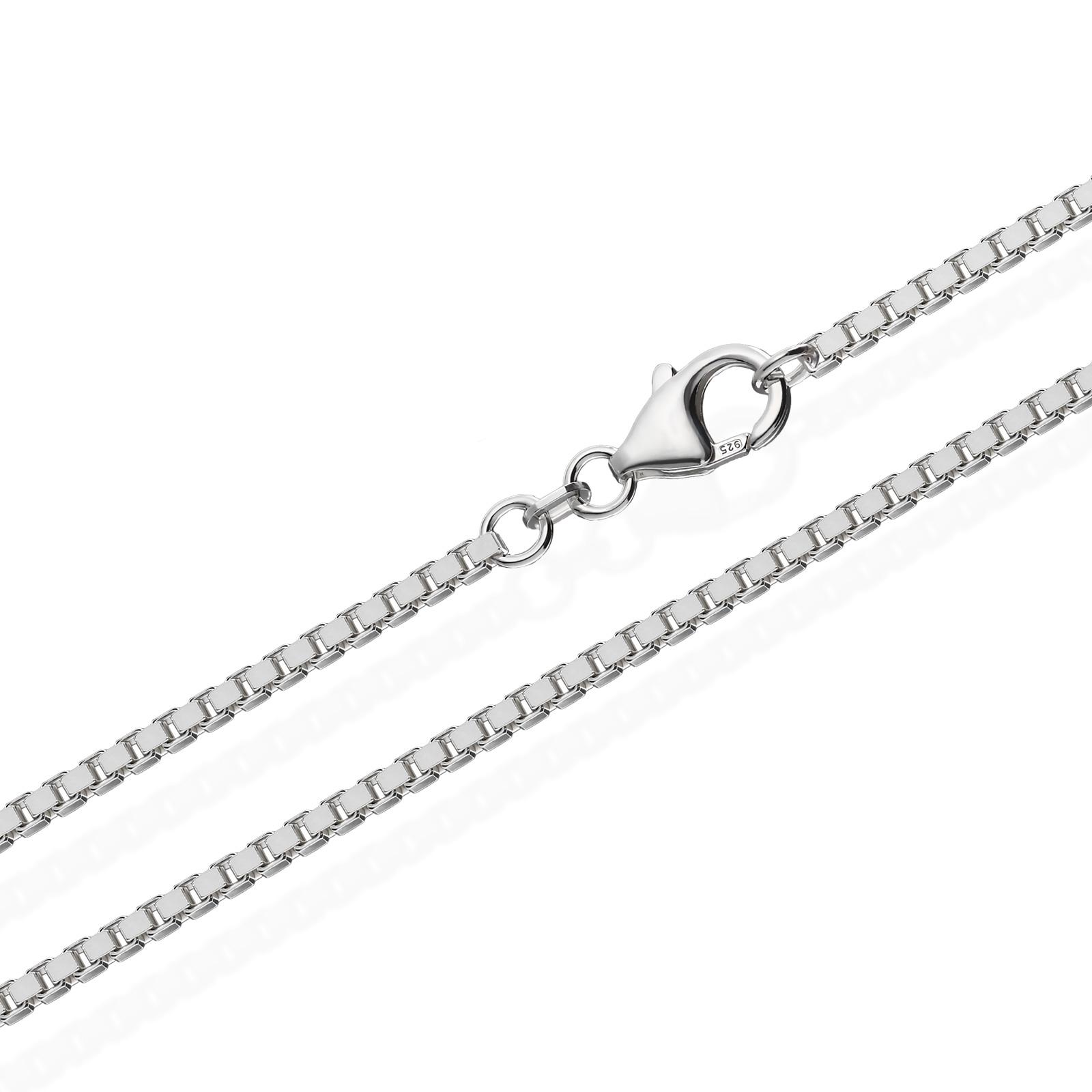 echte 925er Sterlingsilber Venezianerkette Silberkette Halskette Damen Herren 2,20mm