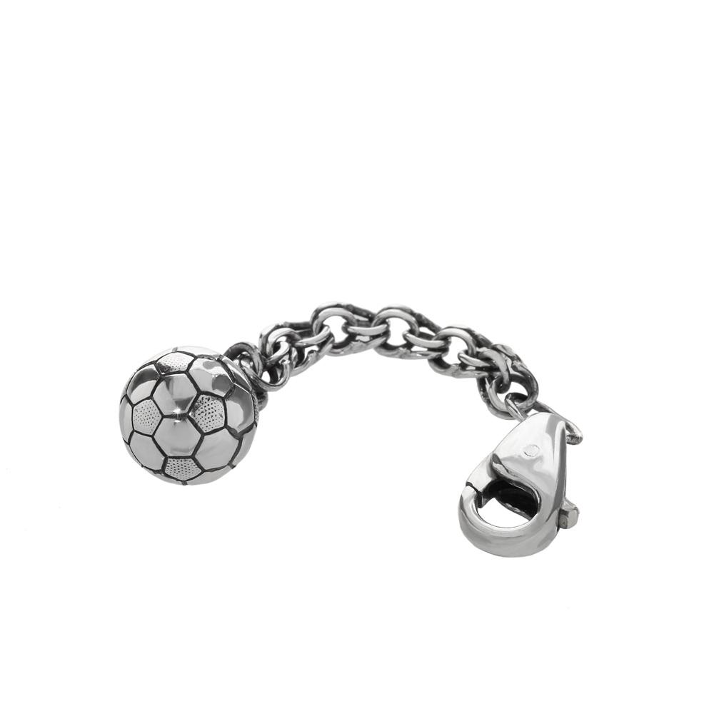 Schlüsselanhänger 925 Sterlingsilber auf Königskette 4cm Fußball Schuh 7,5g 6158