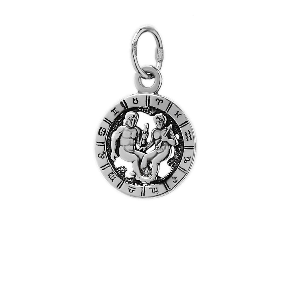ZWILLINGE 925er.Sterling Silber 21mm.1,49g  TOP Anhänger Sternzeichen